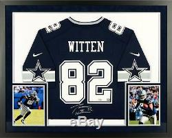 Jason Witten Dallas Cowboys SM Deluxe Framed Autographed Nike Navy Game Jersey