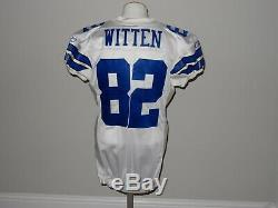 Jason Witten Game Issued Dallas Cowboys Jersey 2008 Size 48 Prova Group Chip