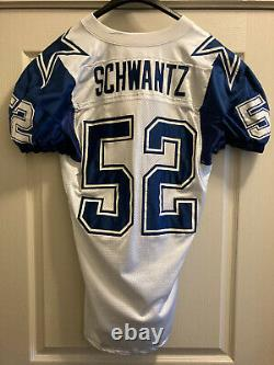Jim Schwantz Dallas Cowboys Apex Authentic Game-Worn Double-Star Jersey