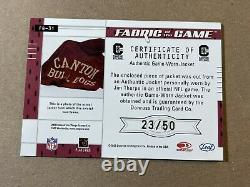 Jim Thorpe 2003 Leaf Certified Fabric of the Game Used Jersey/Jacket /50