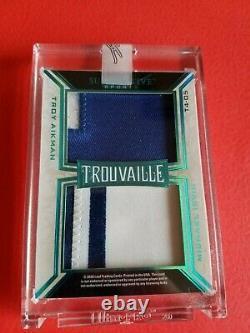 Joe Montana Jerry Rice Troy Aikman Michael Irvin Game Used Jersey Card #2/5 Leaf