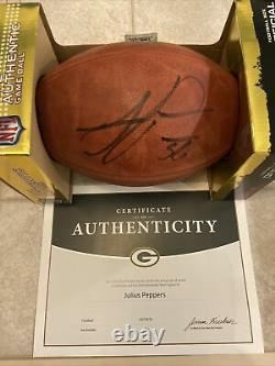 Julius Peppers #56 Autographed Duke Game Ball With COA