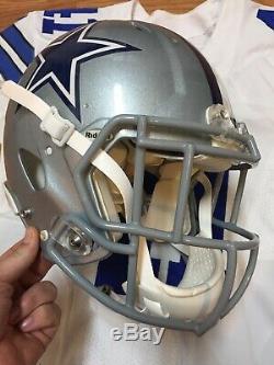 Keith Smith Dallas Cowboys Game Used Helmet Jersey 41 Fullback Linebacker