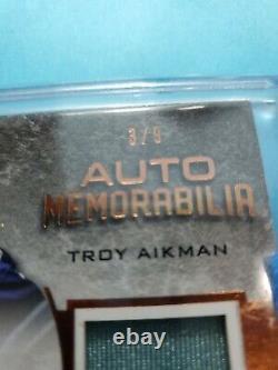 Lot 2 Cowboys -Low# 3/9 Troy Aikman Leaf Game Worn Autograph Dak Prescott Jersey