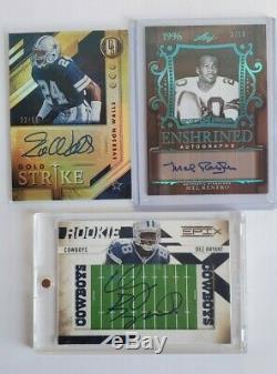 Lot of 14 Dallas Cowboys auto/autograph & game worn cards