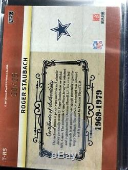 National Treasures Game Worn Jersey Autographed Cowboys Roger Staubach 09/25