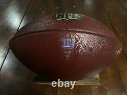 New York Giants v Dallas Cowboys Game Used Football 2016 Seasons Duke Ball Rare