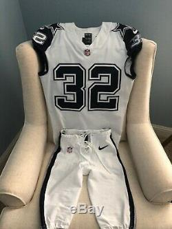 Nike 2016 Dallas Cowboys Color Rush Double Star Game Worn Uniform 32 Scandrick