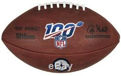 Official 100 Year NFL Leather Game Football by Wilson Dallas Cowboys Logo