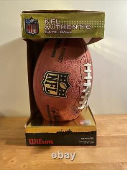 Official Wilson NFL The Duke Authentic Game Ball Leather Football New In Box