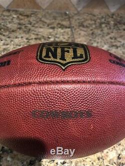 Official Wilson NFL The Duke On Field Dallas Cowboys Game Used Football