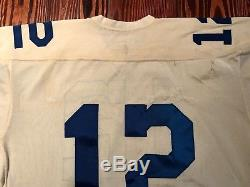 Original 1969-1970 Roger Staubach Dallas Cowboys Game Used Worn Football Jersey