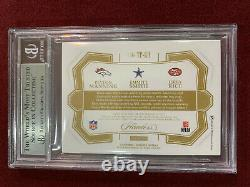 Peyton Manning Emmitt Smith Jerry Rice 2018 Flawless Game Used Patch 1/5 BGS 8.5