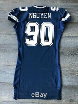 RARE Dat Nguyen Dallas Cowboys 1997 Rookie Game Issued Jersey