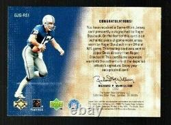 ROGER STAUBACH 2000 UD Game-Jersey Greats Auto On-Card ICONIC SET! #98/400