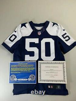 Rare Sean Lee Autographed Dallas Cowboys Game Issued Jersey, NFL COA Football