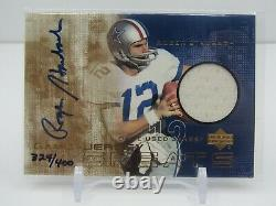 Roger Staubach 2000 Ud Game-used Jersey Autograph Auto #324/400- Cowboys