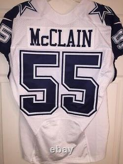 Rolando Mcclain Dallas Cowboys Game Issued Used Worn Color Rush Jersey