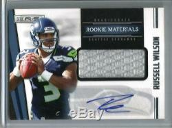 Russell Wilson 2012 Panini R&S Autograph Game Used Jersey Rookie #182/499