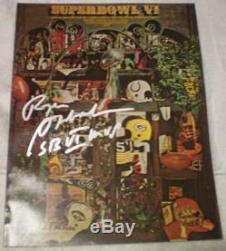 Super Bowl VI Program Dallas Cowboys Signed by Game MVP Roger Staubach JSA COA