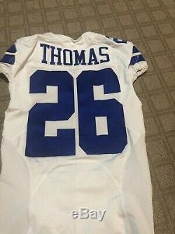 Thomas Dallas Cowboys Game Used Game Worn Jersey #26