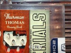 Thurman Thomas 2009 National Treasures College Auto Prime Game Jersey Osu #1/2