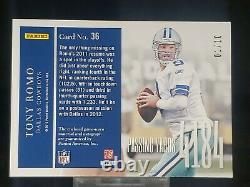 Tony Romo 2012 Panini Elite Game Used Jersey Patch Autograph /10 DALLAS COWBOYS