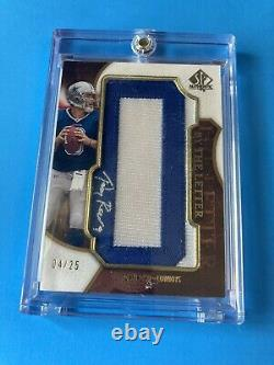 Tony Romo By The Letters Sp Authentic Game Worn Jersey Patch Auto Card 2008 4/25