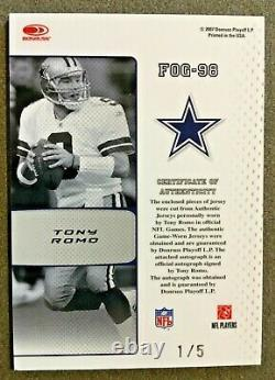 Tony Romo Dallas Cowboys 2007 Certified Fabric Of The Game Auto Jersey #1/5