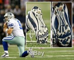 Tony Romo Dallas Cowboys Game Used Nike Cleats Photo Matched Bears