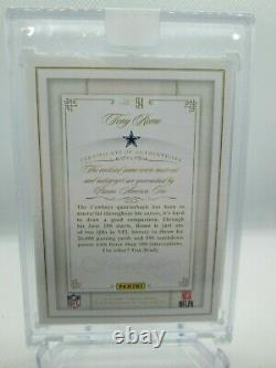 Tony Romo Flawless Patch Auto-On Card /15 Cowboys SEALED / GAME WORN 2014