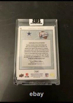 Tony Romo On Card Auto Game Used 6 Color Patch 5/5