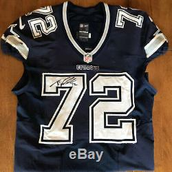 Travis Frederick Signed Autographed Game Used / Worn Cowboys Jersey Panini COA