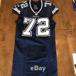 Travis Frederick Signed Autographed Game Used Worn Cowboys Jersey Panini JSA COA