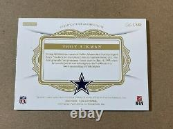 Troy Aikman 2020 Panini Flawless Blue Game Used Jersey Patch Part Auto /5