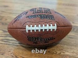 Troy Aikman Dallas Cowboys Signed Paul Tagliabue Game NFL Football Autographed