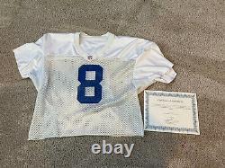 Troy Aikman Practice Worn Jersey Nike HOF NFL Game Used GU Dallas Cowboys COA