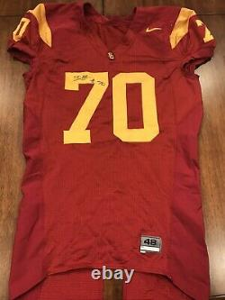 Tyron Smith Game Used USC Trojans Jersey Game Worn Jersey Dallas Cowboys