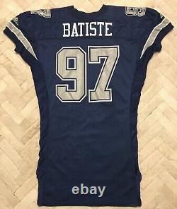 Vintage 1994 Apex Michael Batiste Dallas Cowboys NFL 75th Game Issue Jersey 52 L