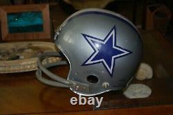 Vintage Dallas Cowboys Maxpro clear shell game used football helmet