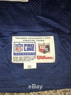 WILSON Game Emmitt Smith JERSEY 48 AUTHENTIC NFL FOOTBALL Apex Sewn Double Star