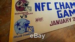 Washington Redskins Dallas Cowboys Pennant Championship Game 1983
