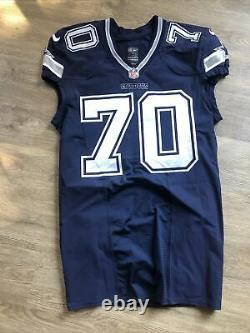 Zach Martin Dallas Cowboys Game Issued Jersey Nike NFL Autographed Go Cowboys