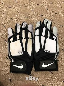Zack Martin Game Worn Game Used Gloves Dallas Cowboys